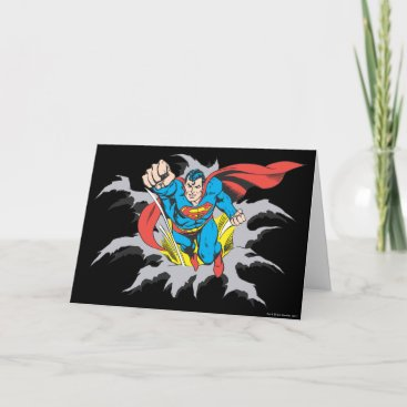 Superman Tears Thru Card