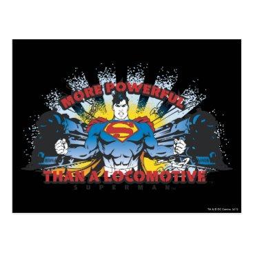 Superman - Two Trains Postcard