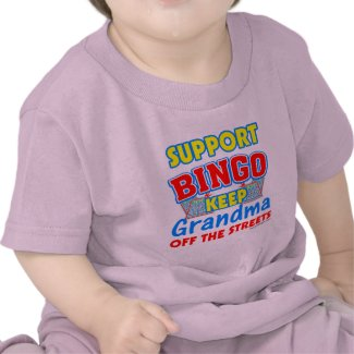 Support Bingo Grandma shirt
