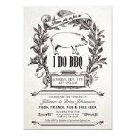 ❤️ Pretty Vintage Pig Themed I Do BBQ Invitation