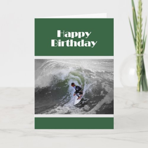 Surfer Boy Birthday Card card
