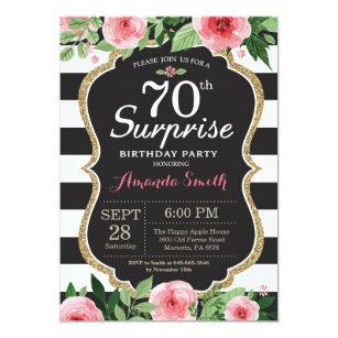Surprise 70th Birthday Invitation Women Fl