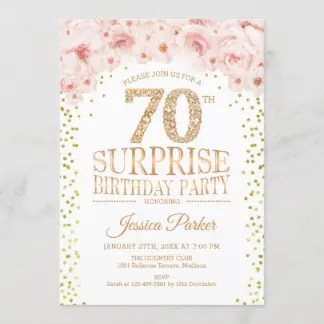 70th birthday invitations zazzle