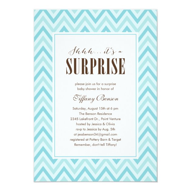 Surprise Baby Shower Invitations