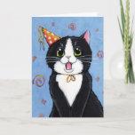 Surprise! | Tuxedo Cat Happy Birthday Card