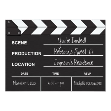 Sweet 16 movie clapboard card