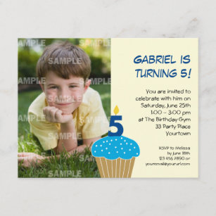 five year old boy birthday invitations
