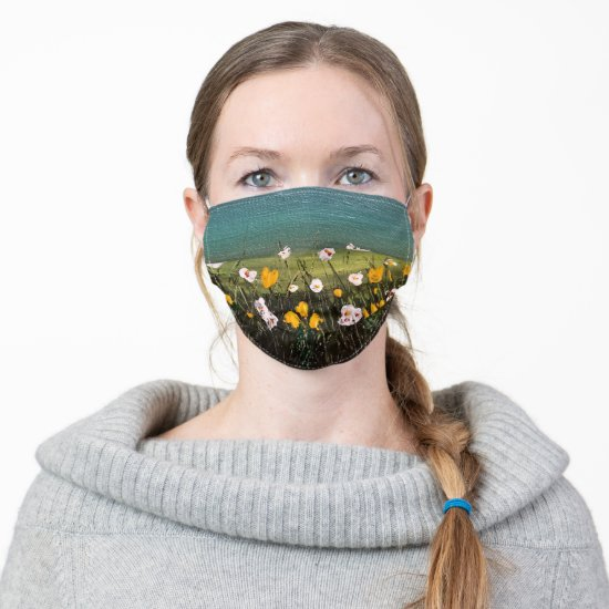 Sweet Field of Flowers Cloth Face Mask