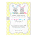 Sweet Lil Bunnies Gender Reveal Invitation