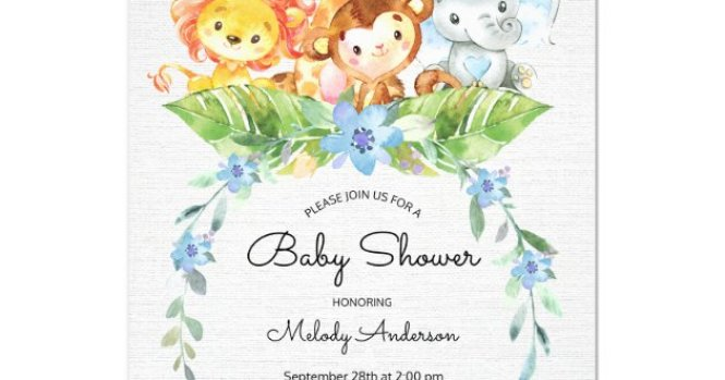 Sweet Safari Jungle Boys Baby Shower