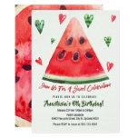 ❤️ Sweet, Summer Fun, Watermelon Birthday Invitation
