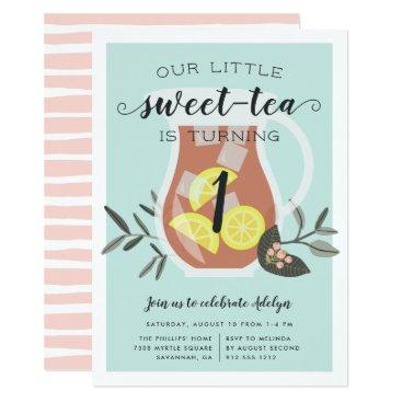 Sweet Tea | Kids Birthday Party Invitation