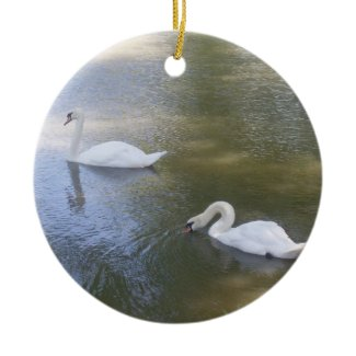 Swimming Swans Ornament ornament