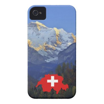 Swtzerland Jungfrau and flag iPhone 4 Cover