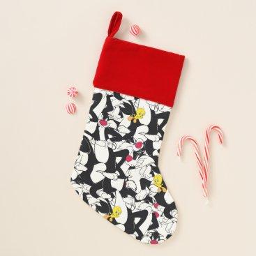 SYLVESTER™ & TWEETY™ Pattern Christmas Stocking