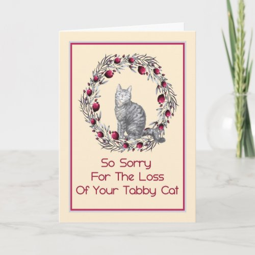 Sympathy Card for Pet Tabby Cat