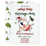 TACKY Christmas Party Invitation Funny DRUNK Santa
