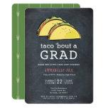 ❤️ Taco Bout GRAD Chalkboard Graduation Party Invitation