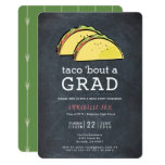 ❤️ Taco Bout GRAD Chalkboard Graduation Party Invitation