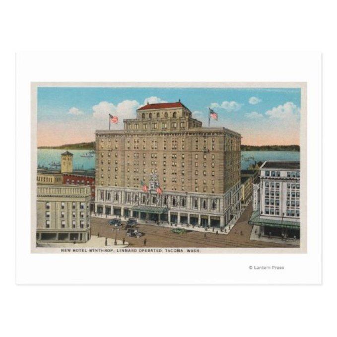 Tacoma, WA - vista del hotel Winthrop Postales