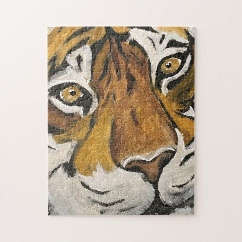 Tai Chi Tiger Face Jigsaw Puzzle