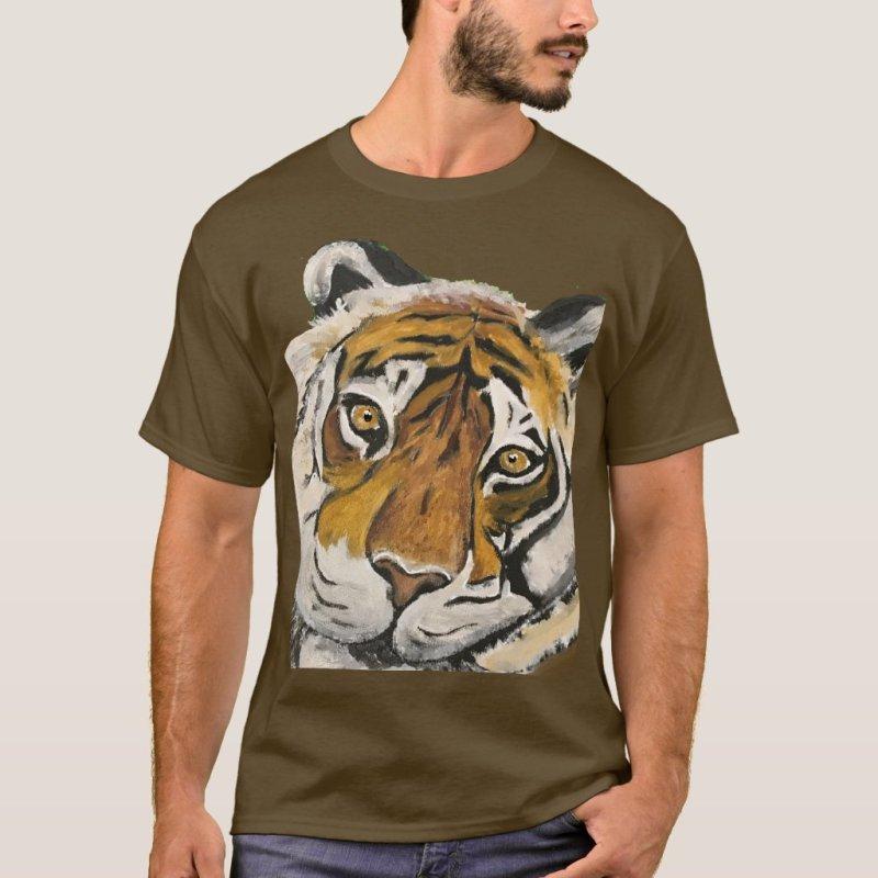 Tai Chi Tiger Face  T-Shirt