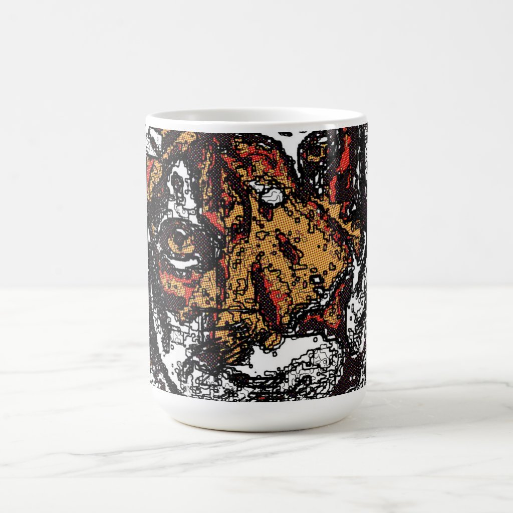 ' Tai Chi Tiger Iconic Insight Golden Browns Coffee Mug
