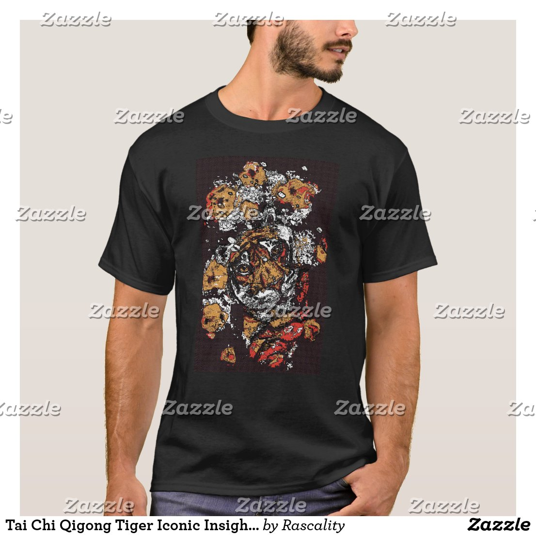 ' Tai Chi Tiger Iconic Insight Golden Browns T-Shirt