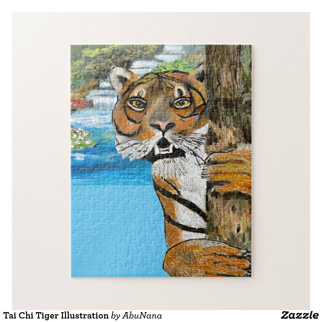 Tai Chi Tiger Illustration Jigsaw Puzzle