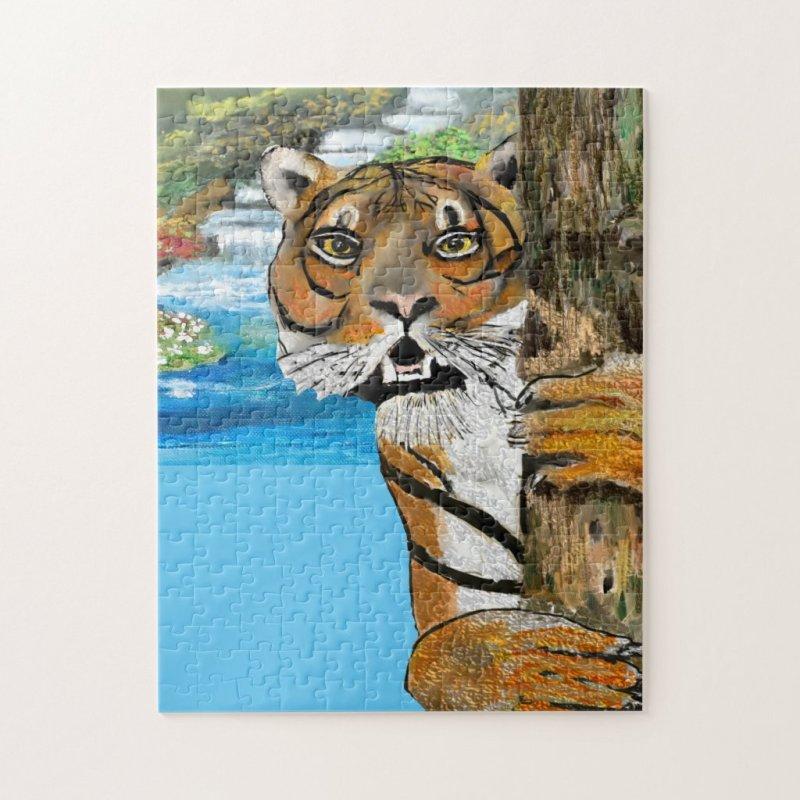 Tai Chi Tiger Illustration Jigsaw Puzzle