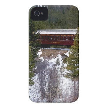 Take A Winter Ride On The Georgetown Loop Railroad iPhone 4 Cover