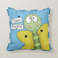 Take Flight Butterfly Throw Pillow
