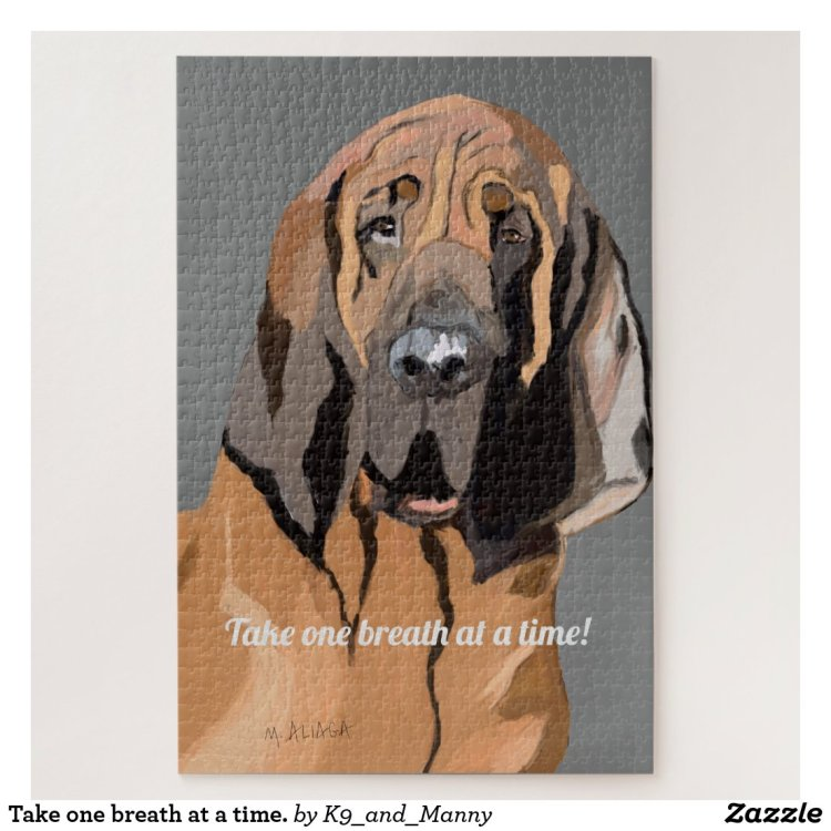 Take one breath at a time. jigsaw puzzle