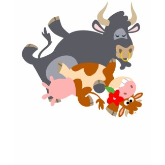 Tango!! (cartoon bull and cow) children T-shirt shirt