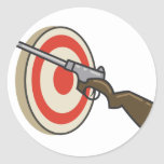 Target Shoot Classic Round Sticker
