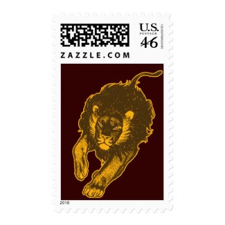 Tau Of The Lions Postage Stamp (gold) stamp