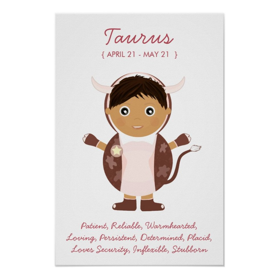 Taurus - Boy Horoscope Poster