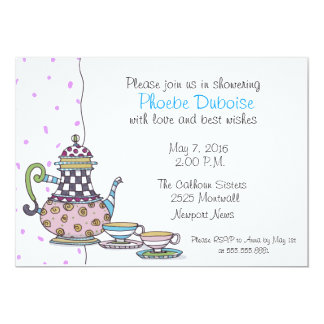 Chic Bridal Tea Party Shower Invitation
