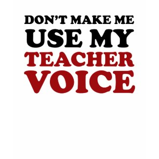 Teacher Voice Shirt shirt