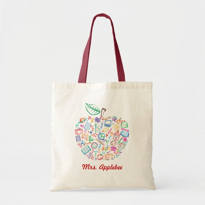 Teachers Apple Book Bag