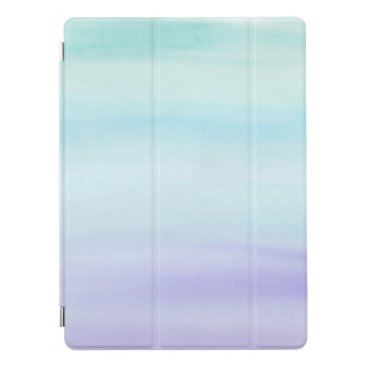 Teal to Purple Watercolor Wash iPad Pro Cover