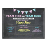 Team Pink or Blue Gender Reveal Baby Shower invite