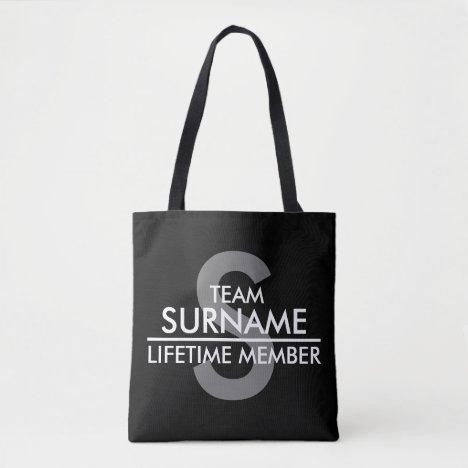 TEAM (Surname) Lifetime Member Tote Bag