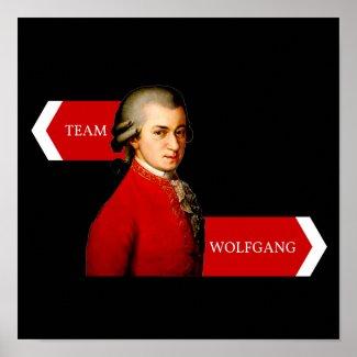 Team Wolfgang. Wolfgang Amadeus Mozart fan Poster