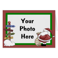 Template Christmas photo card