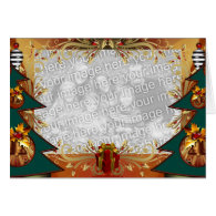 Template Christmas Trees Greeting Card