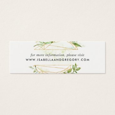 Terrarium Wedding Website Cards | Mini