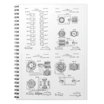Tesla Elecro-Magnet Motor Patent US381968 p 1-4 Notebook