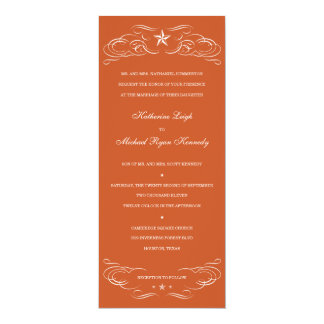 Texas Burnt Orange Lone Star Wedding Invitations