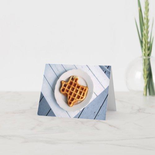 Texas Waffle Notecard card